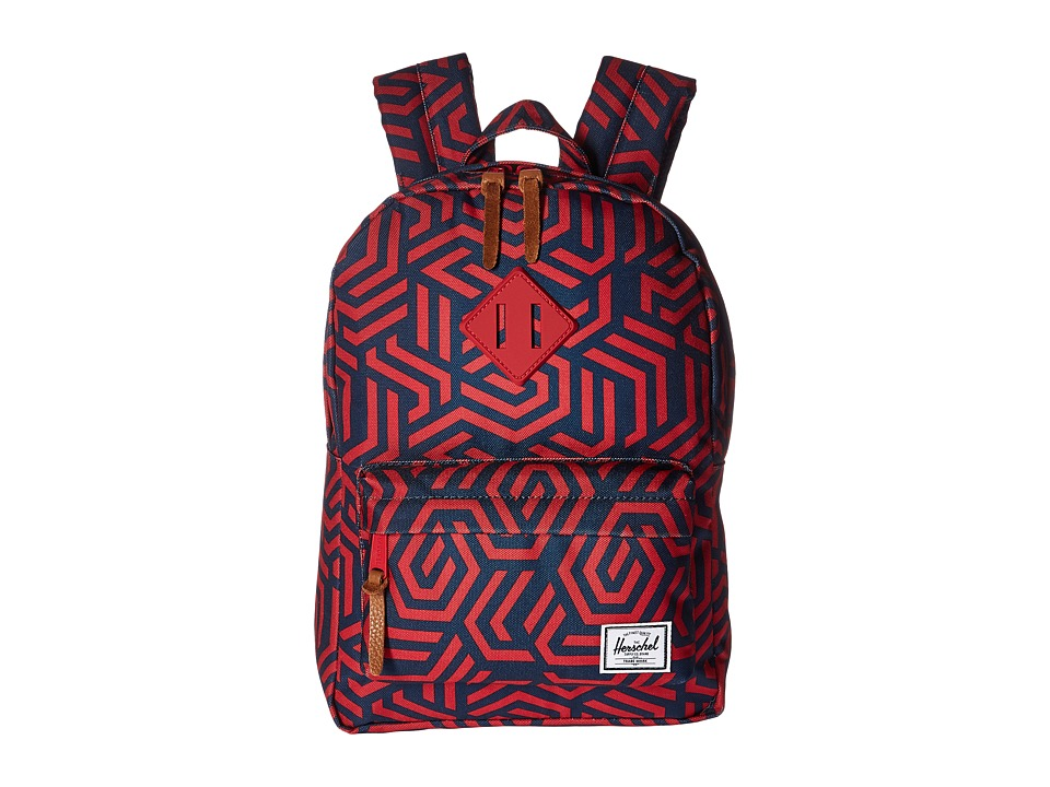Herschel Supply Co. - Heritage Kids (Little Kids/Big Kids) (Navy Metric/Red Rubber) Backpack Bags