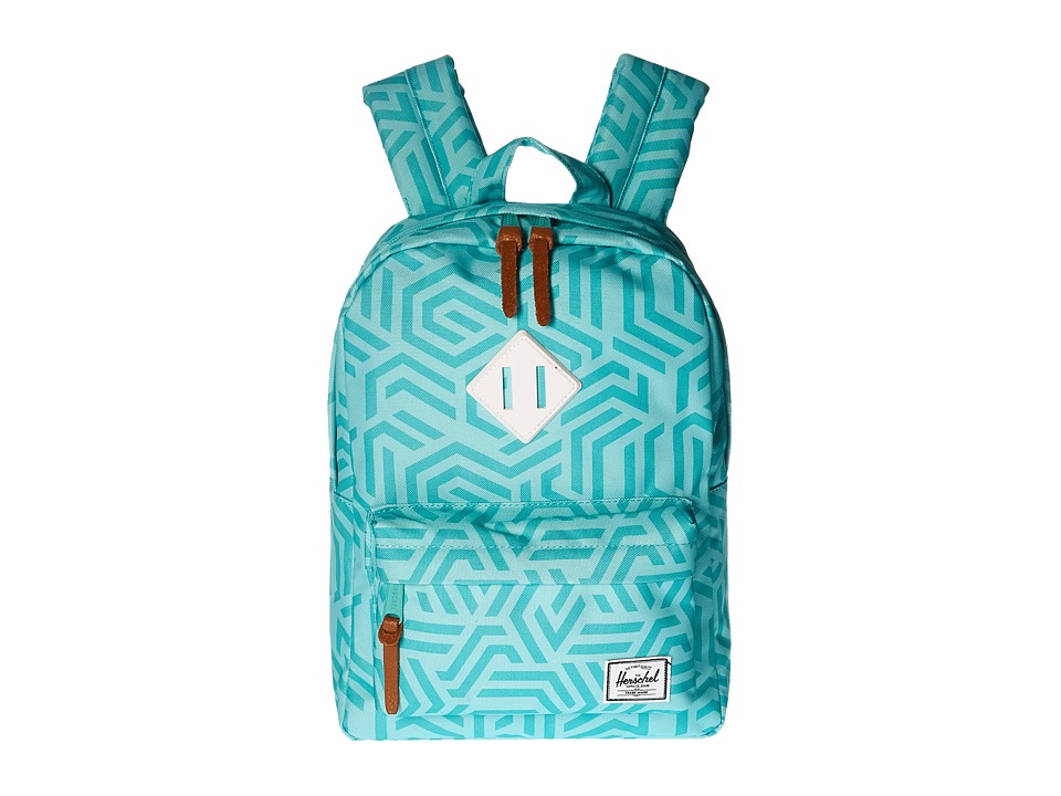 Herschel Supply Co. - Heritage Kids (Little Kids/Big Kids) (Teal Metric/White Rubber) Backpack Bags