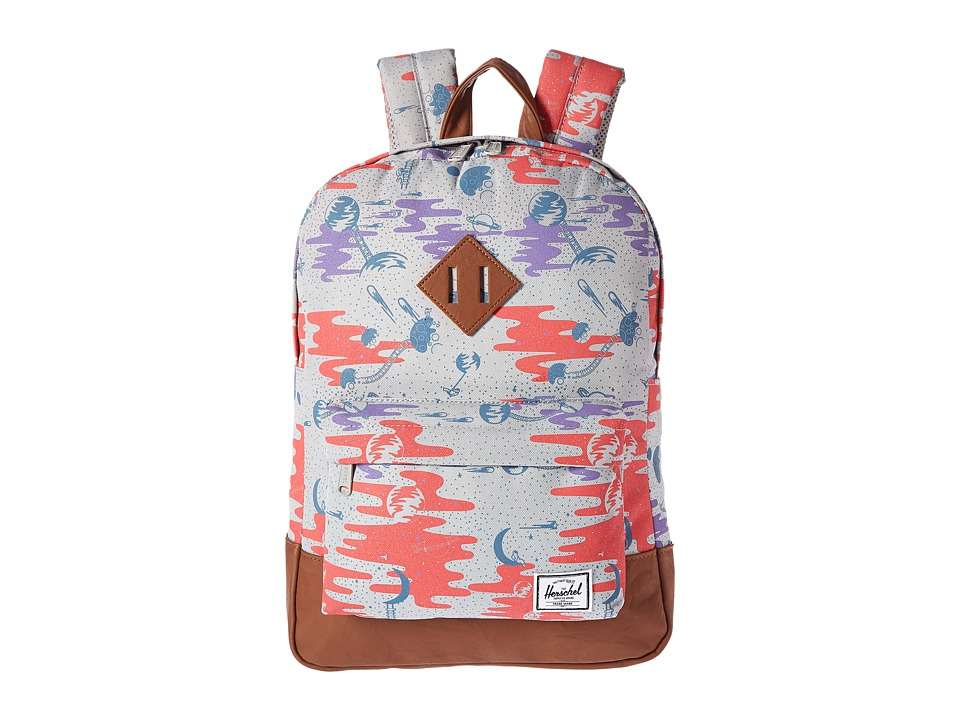 Herschel Supply Co. - Heritage Youth (Big Kids) (Space Explorers Girls/Tan Synthetic Leather) Backpack Bags