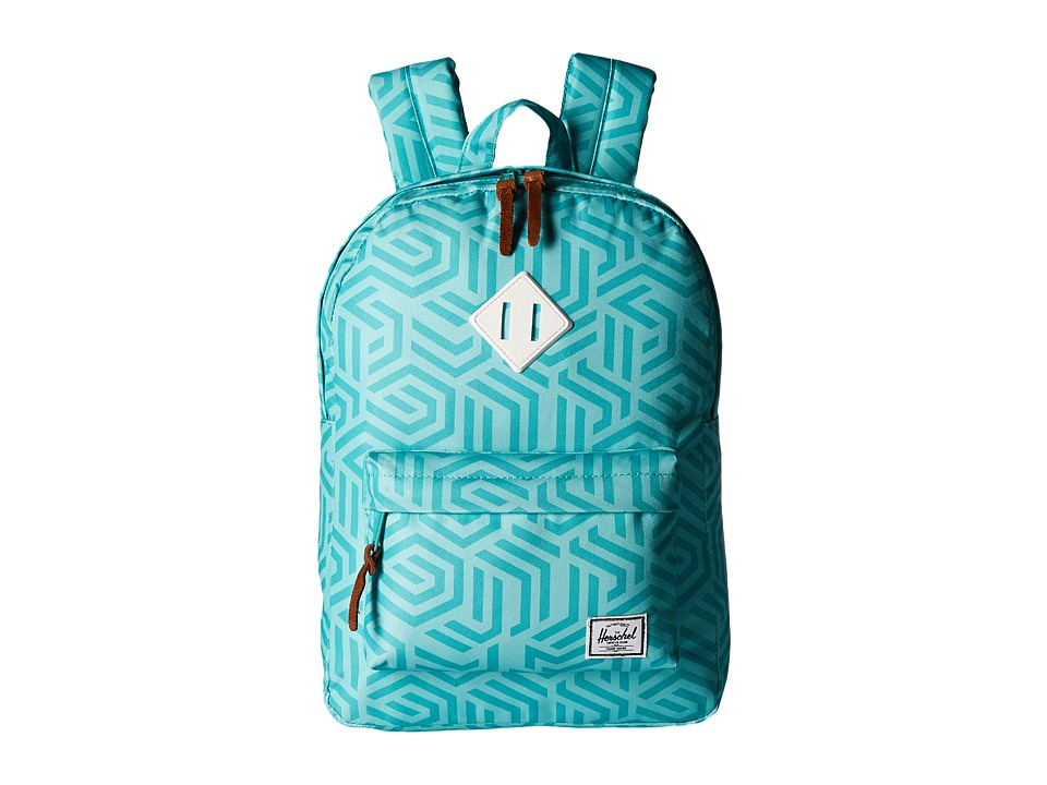 Herschel Supply Co. - Heritage Youth (Big Kids) (Teal Metric/White Rubber) Backpack Bags
