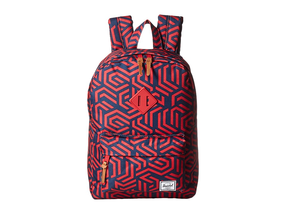 Herschel Supply Co. - Heritage Youth (Big Kids) (Navy Metric/Red Rubber) Backpack Bags
