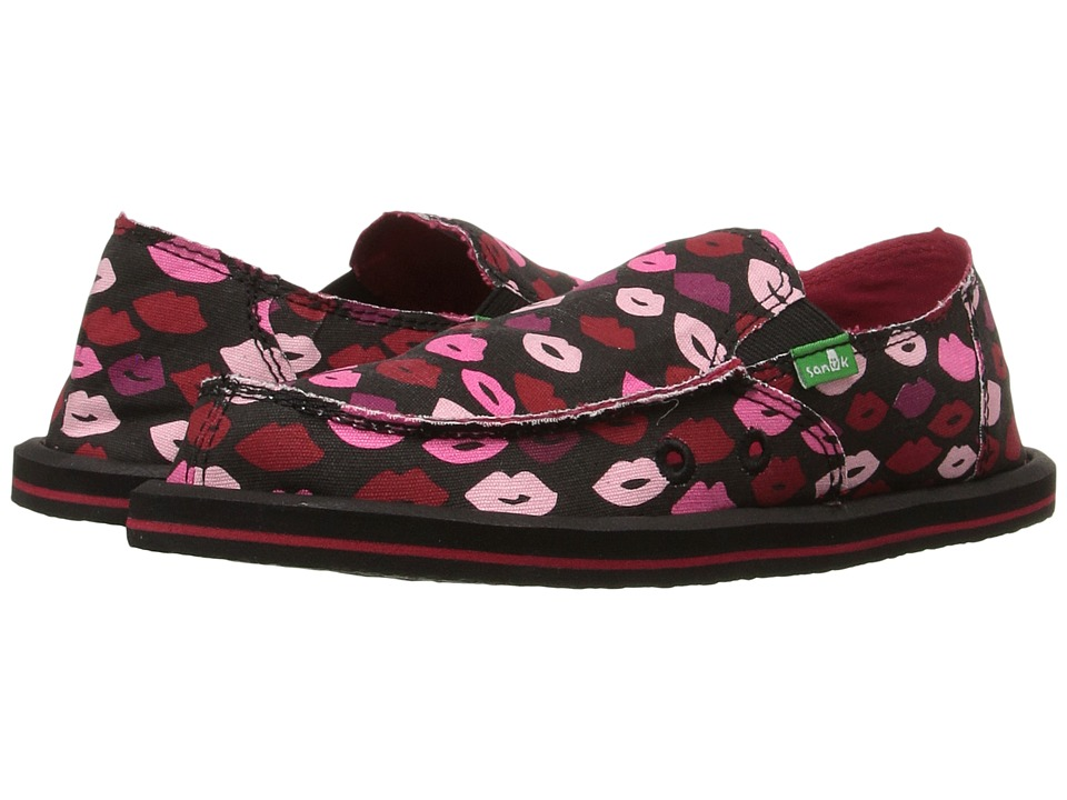 Sanuk Kids - Donna Lil Icon (Little Kid/Big Kid) (Black Multi Kiss) Girls Shoes