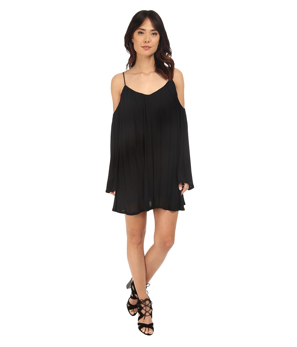 Brigitte Bailey Ava Cold Shoulder Long Sleeve Dress (Black) Women