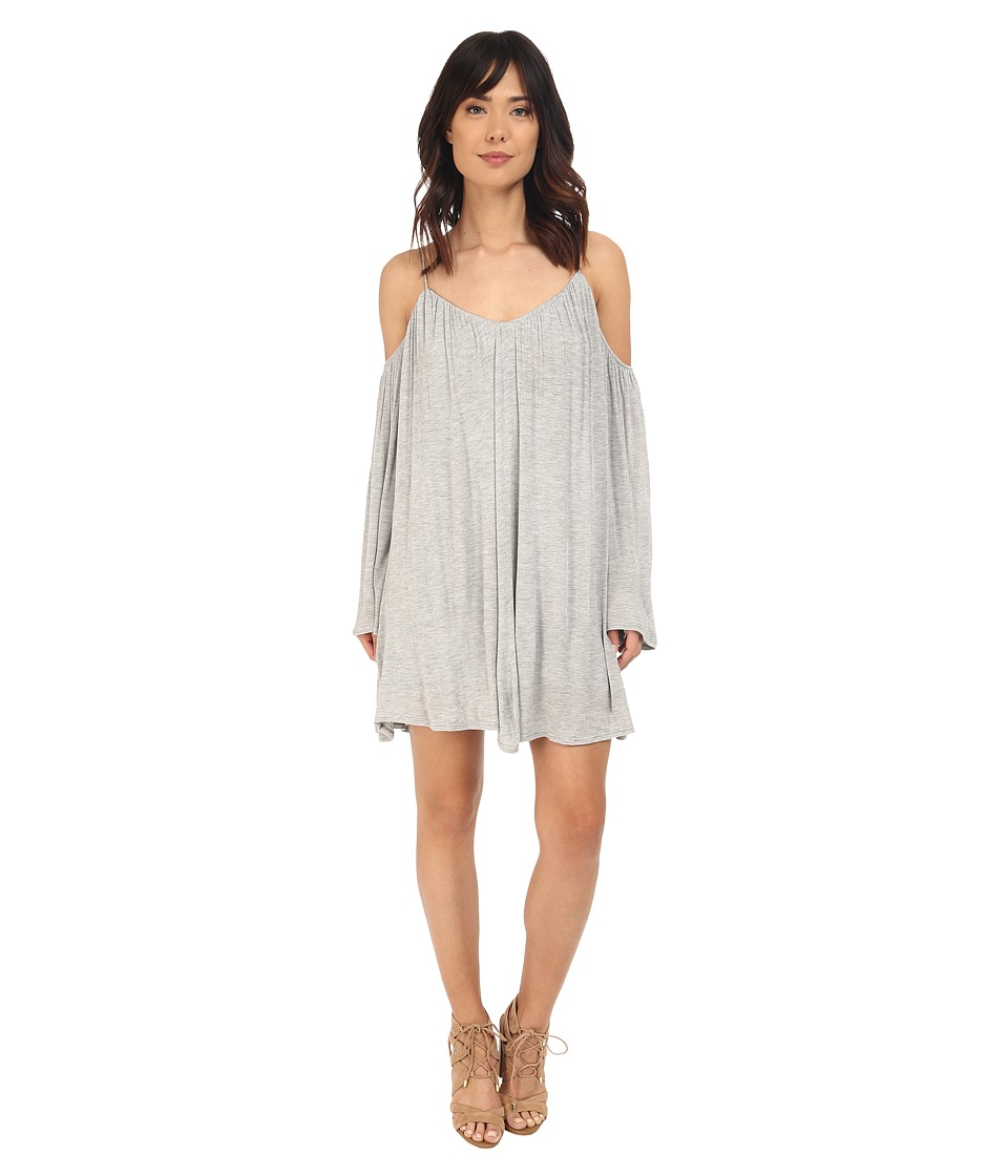 Brigitte Bailey - Ava Cold Shoulder Long Sleeve Dress (Heather Grey) Women's Dress