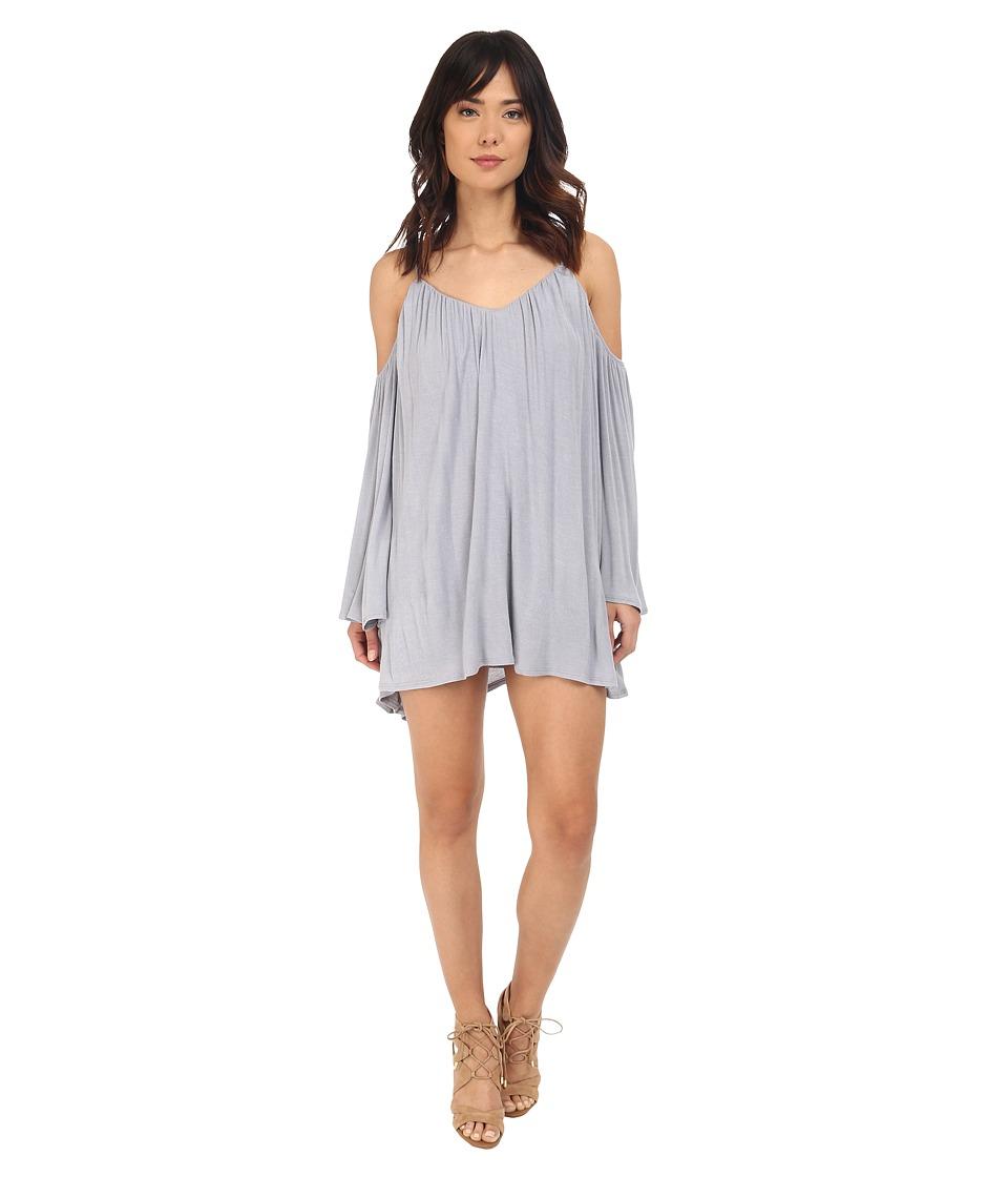 Brigitte Bailey - Ava Cold Shoulder Long Sleeve Dress (Dusty Blue) Women's Dress