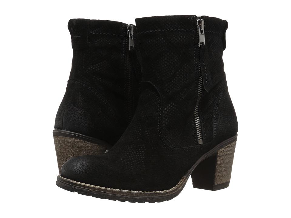 Taos Footwear Standout (Black Embossed Suede) Women