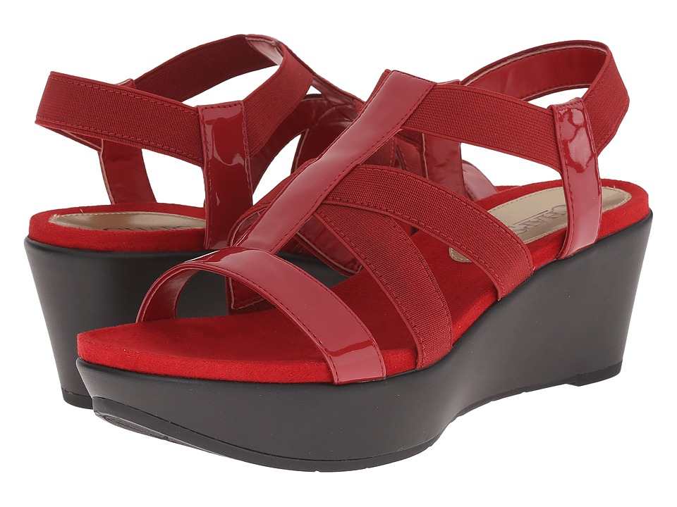LAUREN Ralph Lauren - Wilda (Madison Red) Women's Wedge Shoes