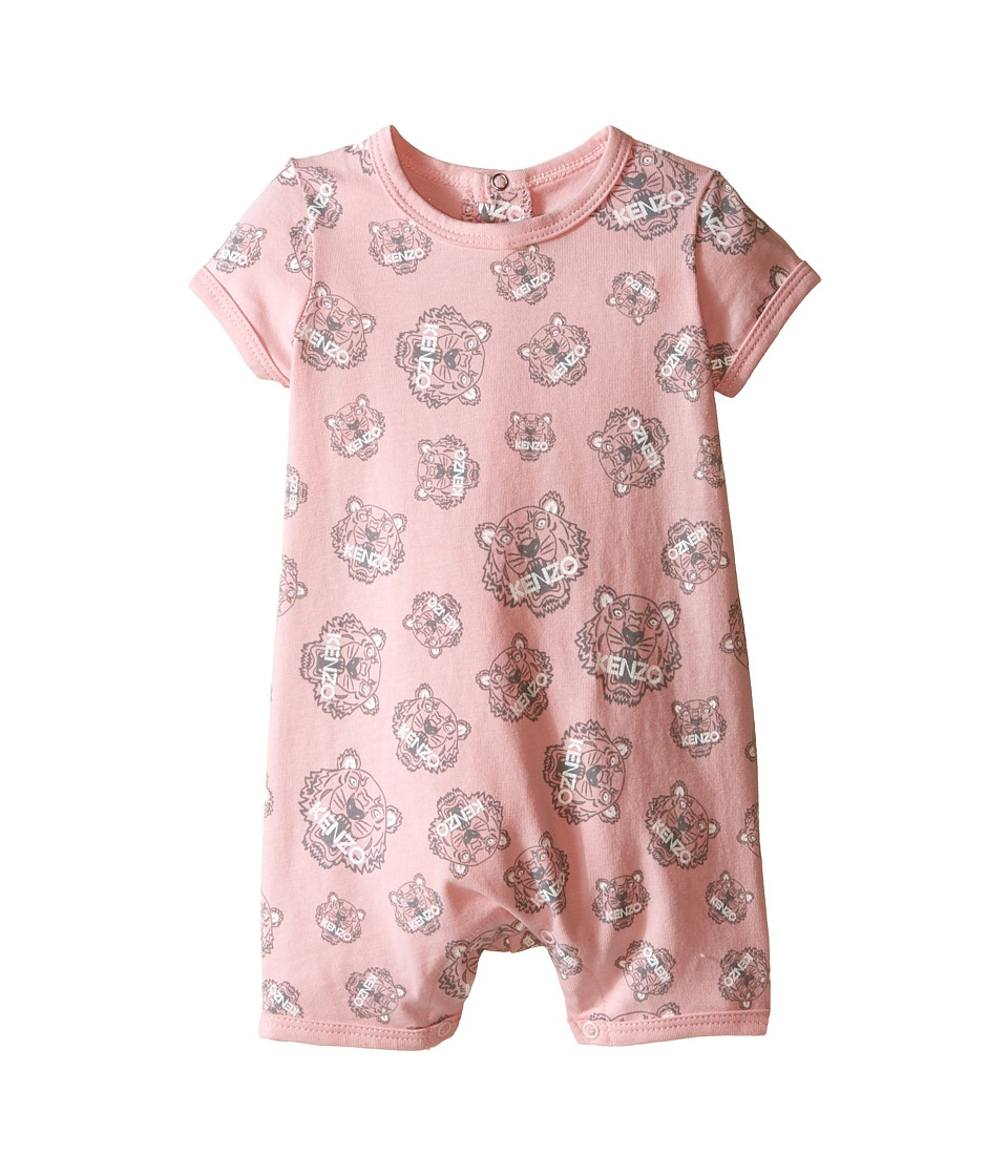Kenzo Kids - Tiger Combi One-Piece (Infant/Toddler) (Light Pink) Girl's Jumpsuit & Rompers One Piece