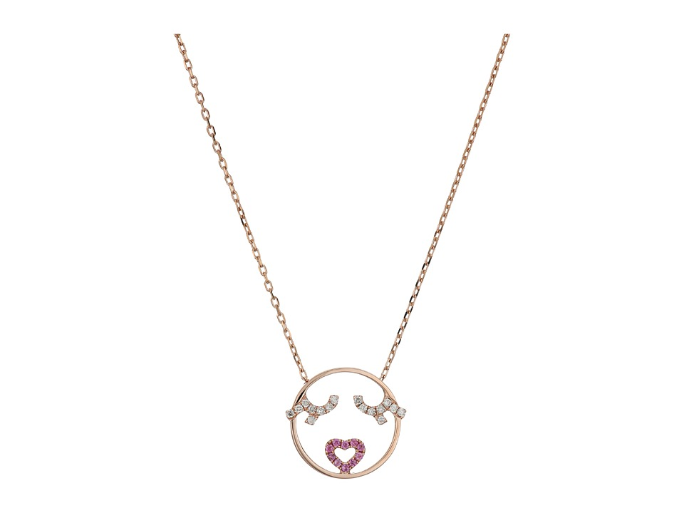 RUIFIER - Flutter Eyes Necklace (9ct Rose Gold) Necklace