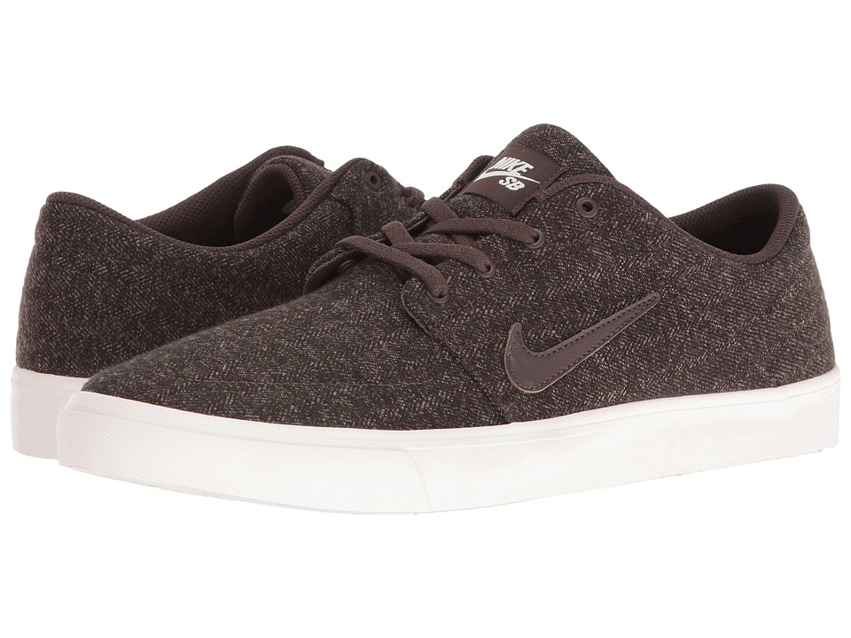 Nike SB - Portmore Canvas Premium (Baroque Brown/Baroque Brown/Ivory) Men's Skate Shoes