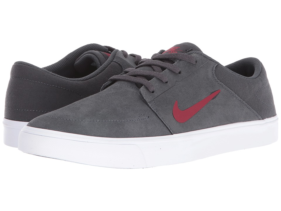 Nike SB - Portmore (Anthracite/Team Red) Men's Skate Shoes