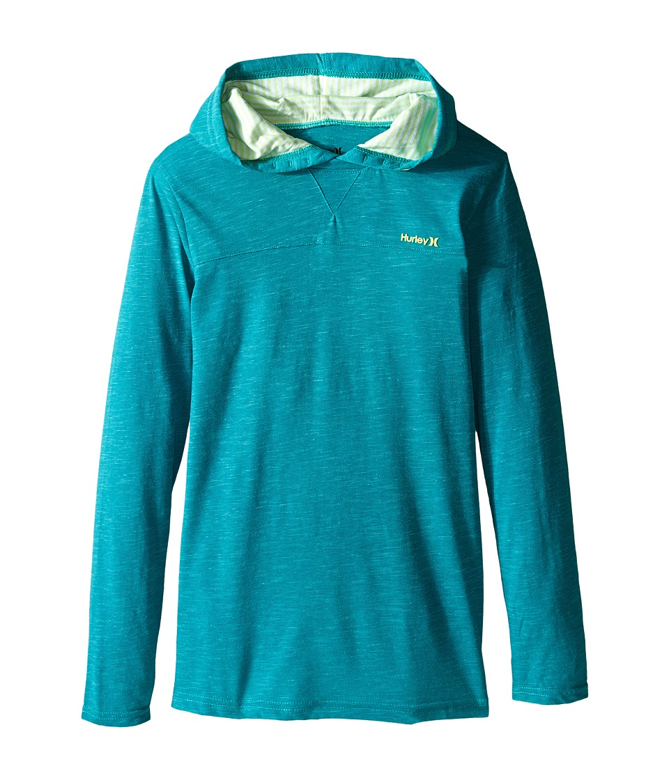Hurley Kids - Last Call Hooded Pullover (Big kids) (Rio Teal) Boy's Clothing