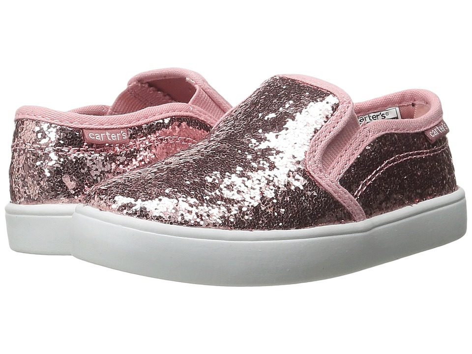Carters - Tween 4 (Toddler/Little Kid) (Pink Glitter) Girl's Shoes
