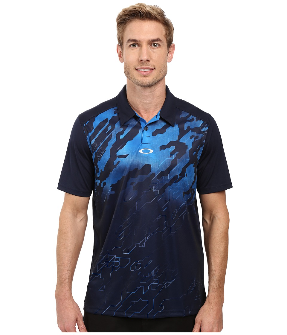 Oakley - Cryptic Polo (Fathom) Men's Short Sleeve Knit
