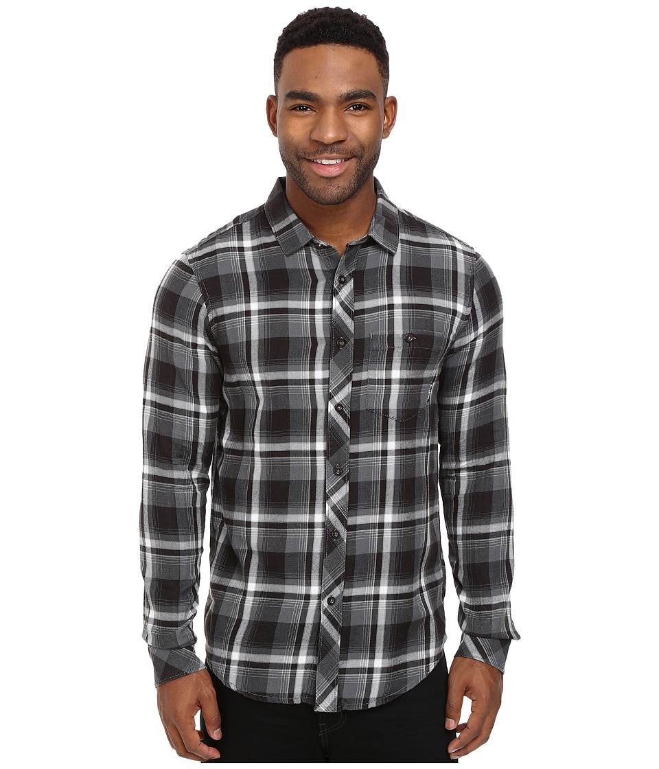 Billabong - Vantage Flannel Shirt (Asphalt) Men's Long Sleeve Button Up