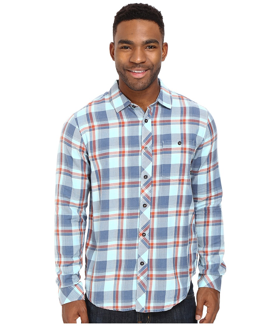 Billabong - Vantage Flannel Shirt (Blue) Men's Long Sleeve Button Up