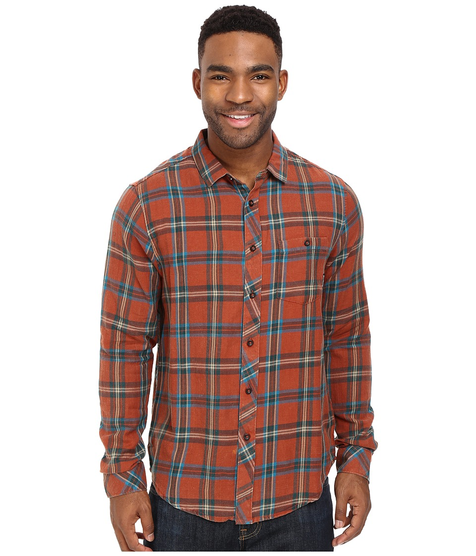 Billabong - Vantage Flannel Shirt (Rust) Men's Long Sleeve Button Up