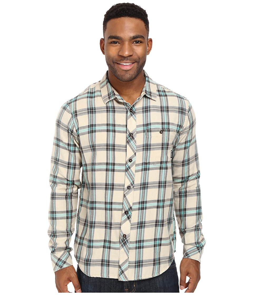 Billabong - Vantage Flannel Shirt (Sand) Men's Long Sleeve Button Up