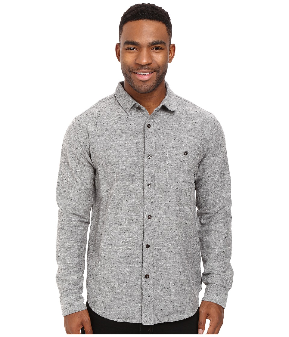 Billabong - Jackson Flannel Shirt (Grey Heather) Men's Long Sleeve Button Up