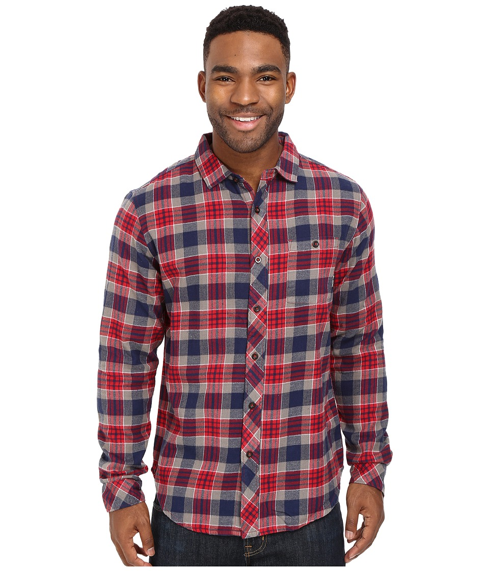 Billabong - Jackson Flannel Shirt (Red) Men's Long Sleeve Button Up