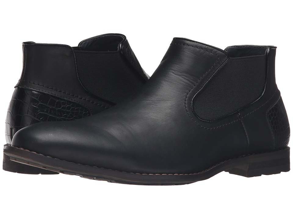 Steve Madden Kelen (Black Leather) Men