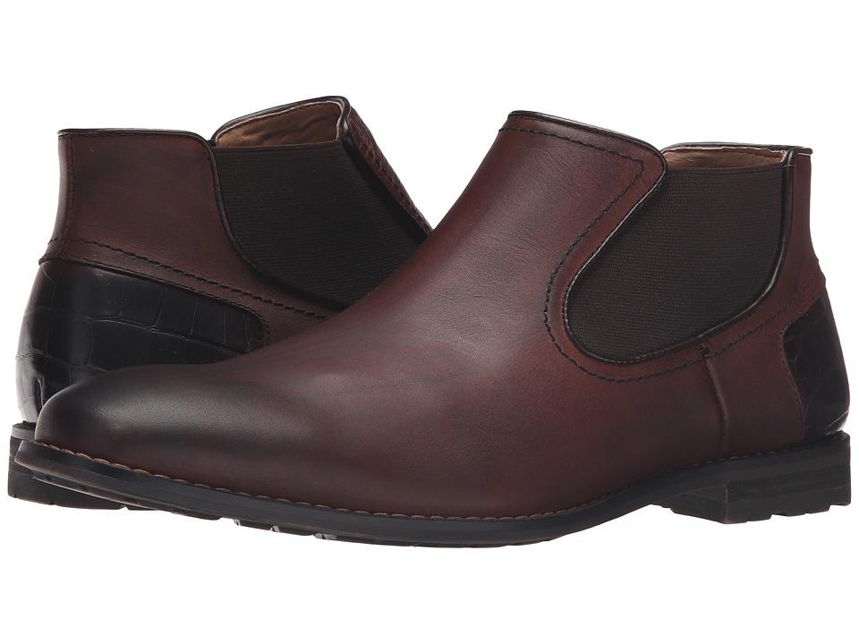 Steve Madden Kelen (Brown Leather) Men