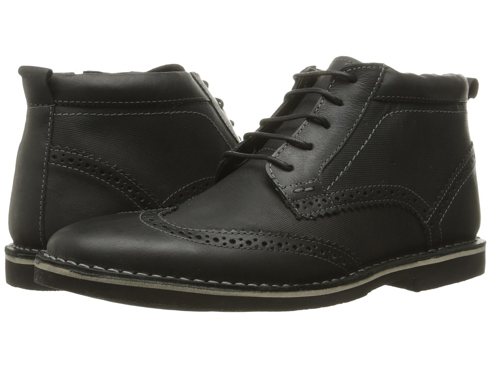 Steve Madden Lawrense (Black Leather) Men