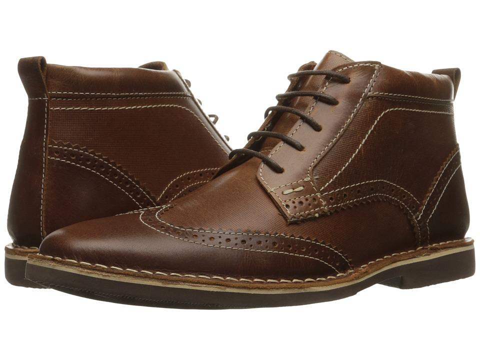 Steve Madden - Lawrense (Cognac Leather) Men's Lace-up Boots