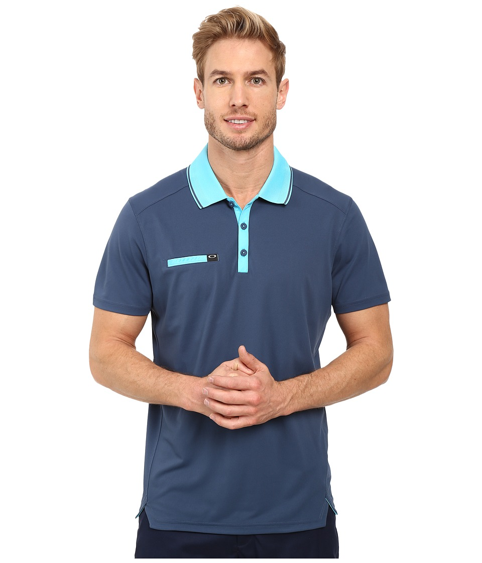 Oakley - Hazard Polo (Blue Shade) Men's Short Sleeve Knit
