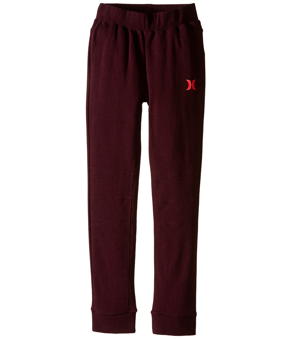 Hurley Kids - Varsity French Terry Pants (Big kids) (Night Maroon Heather) Boy's Casual Pants