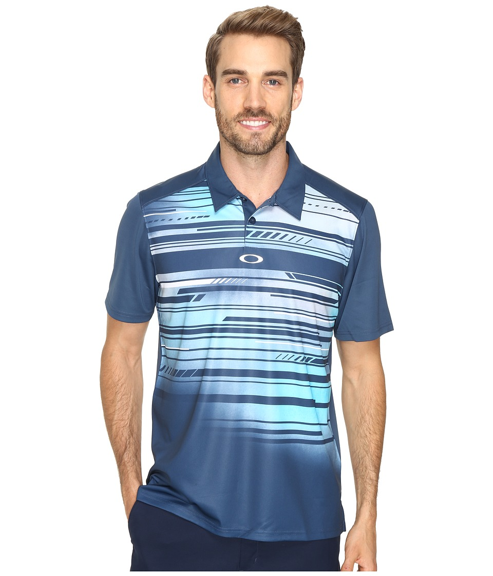 Oakley - Provoking Polo (Blue Shade) Men's Short Sleeve Knit