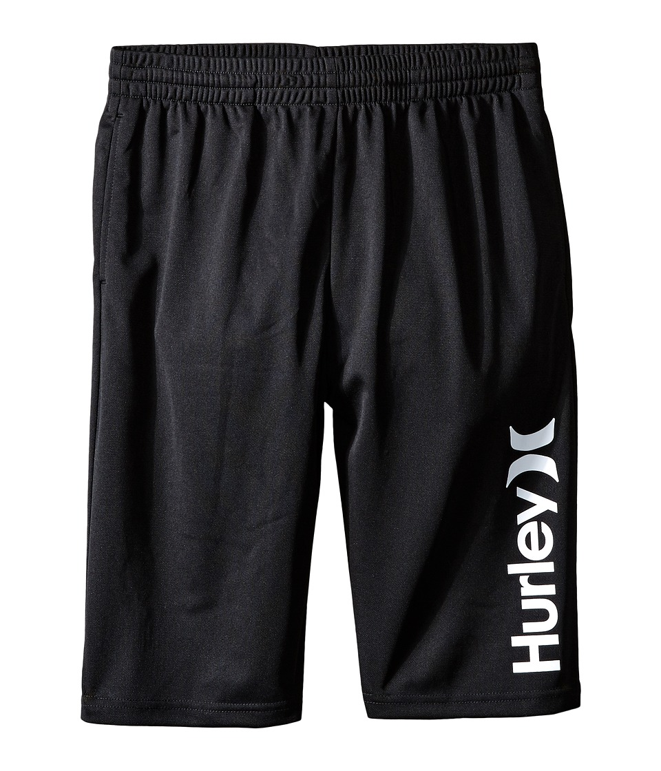 Hurley Kids - One and Only Dri Fit Shorts (Big kids) (Black) Boy's Shorts
