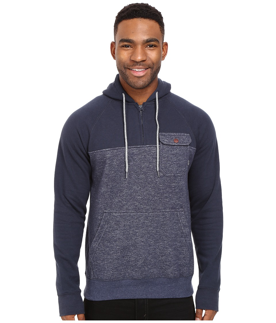 Billabong - Balance 1/2 Zip Hoodie (Navy Heather) Men's Sweatshirt