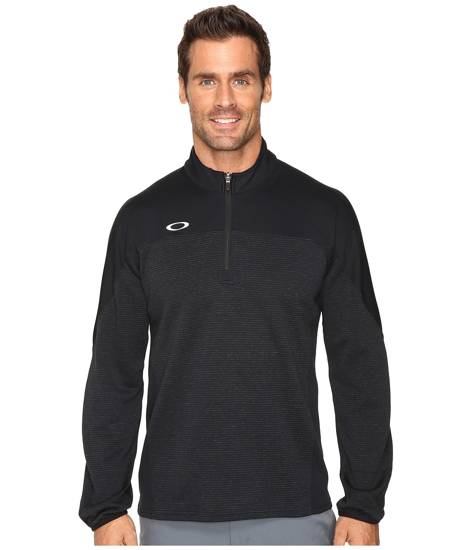 Oakley - Gridlock Pullover 1/4 Zip (Black) Men's Clothing