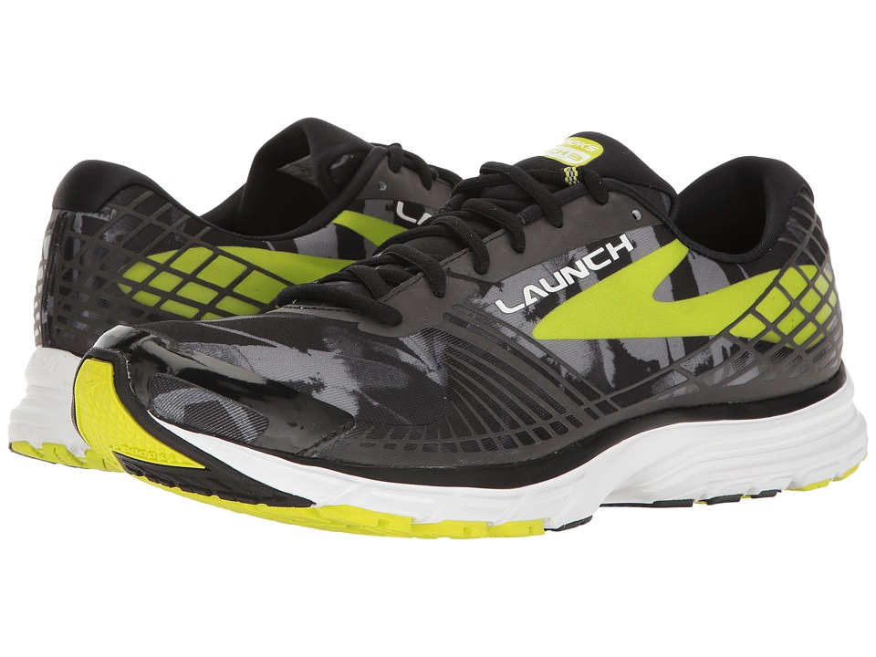 Brooks - Launch 3 (Black/Primer Grey/Lime Punch) Men's Running Shoes