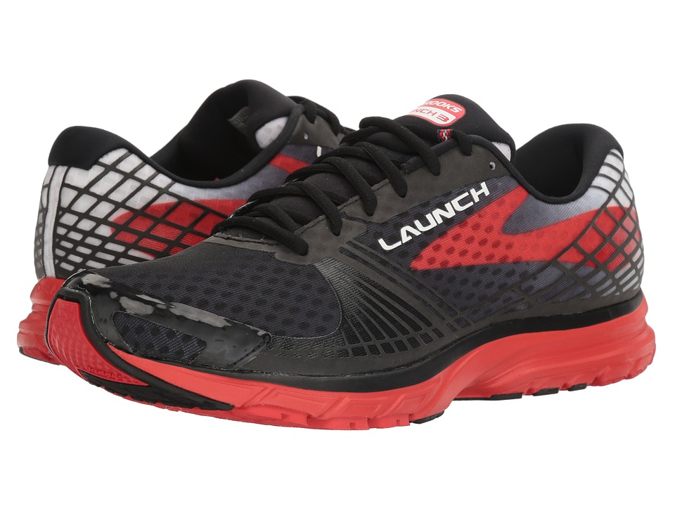 Brooks - Launch 3 (Black/High Risk Red) Men's Running Shoes
