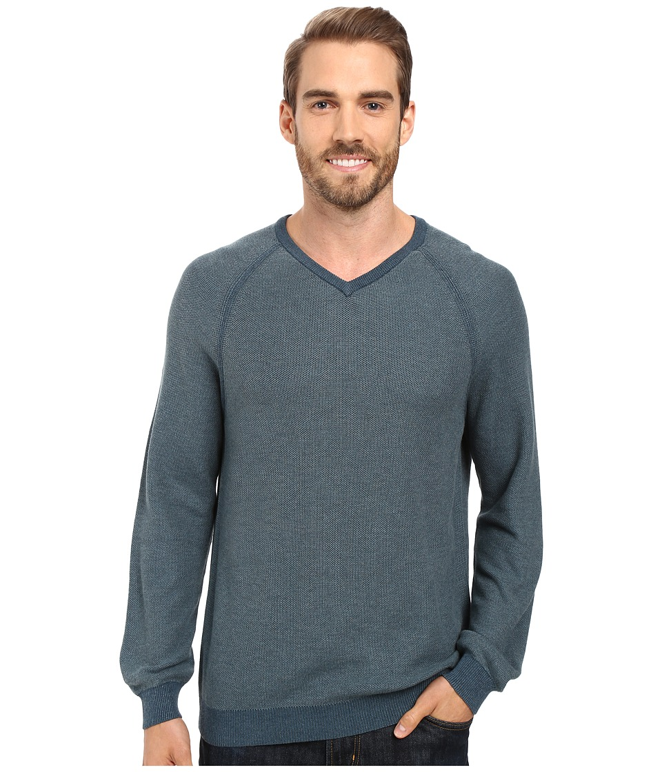 Tommy Bahama - Make Mine A Double V-Neck (Seaway) Men's Clothing