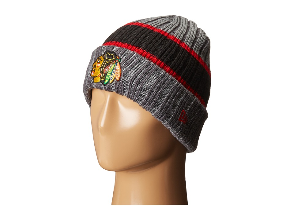 New Era - Stripe Chiller Chicago Blackhawks (Black) Baseball Caps