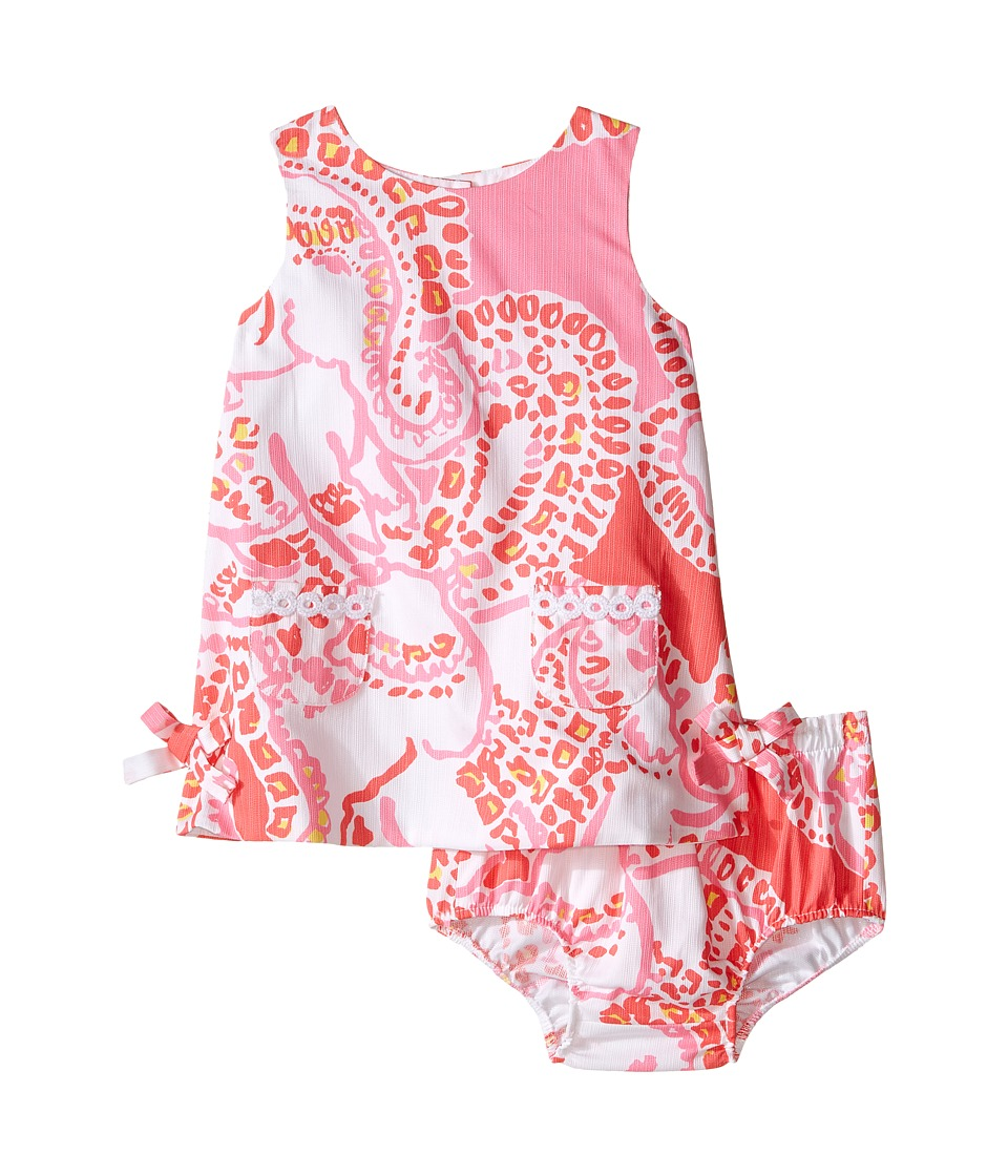 Lilly Pulitzer Kids - Baby Lilly Shift (Infant) (Hot Coral Trunk In Love) Girl's Dress