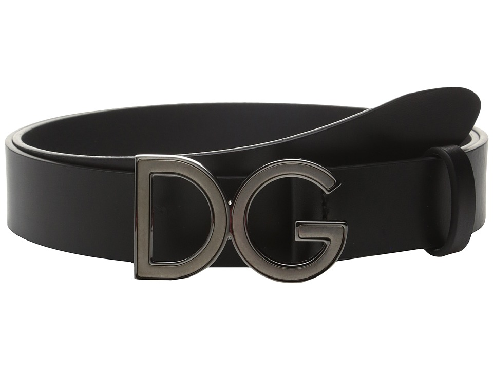 Dolce & Gabbana - Logo Buckle Belt (Black) Men's Belts