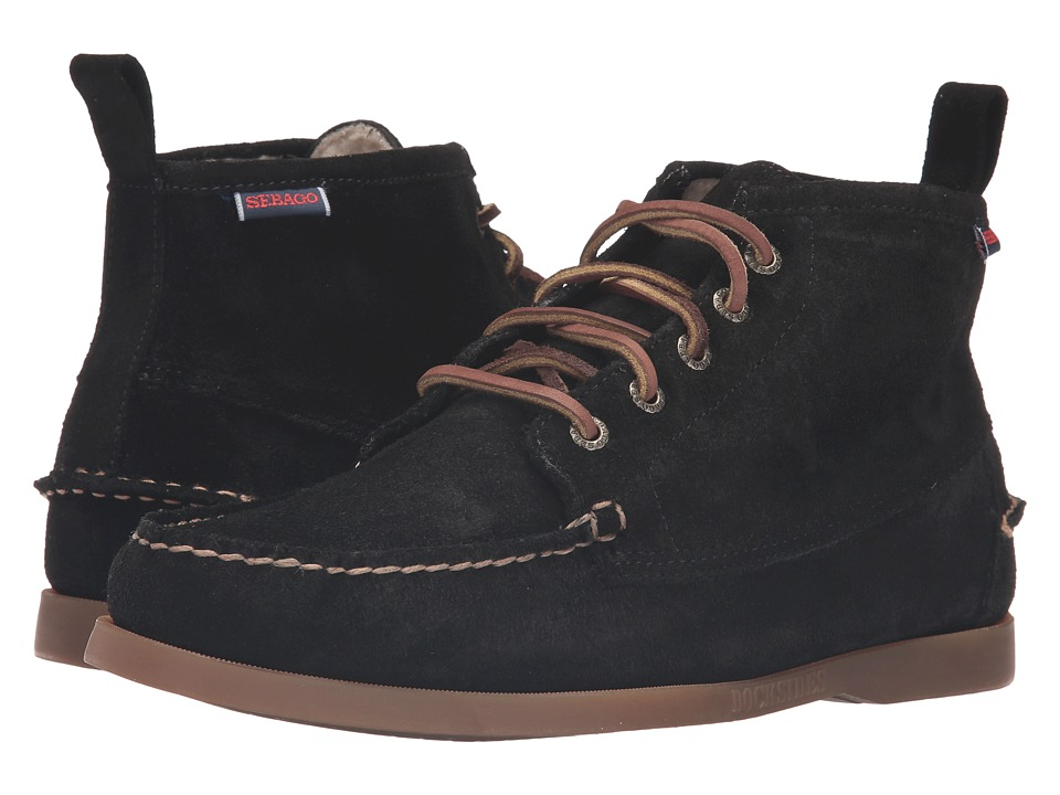 Sebago - Beacon Shearling (Black Suede) Men's Shoes