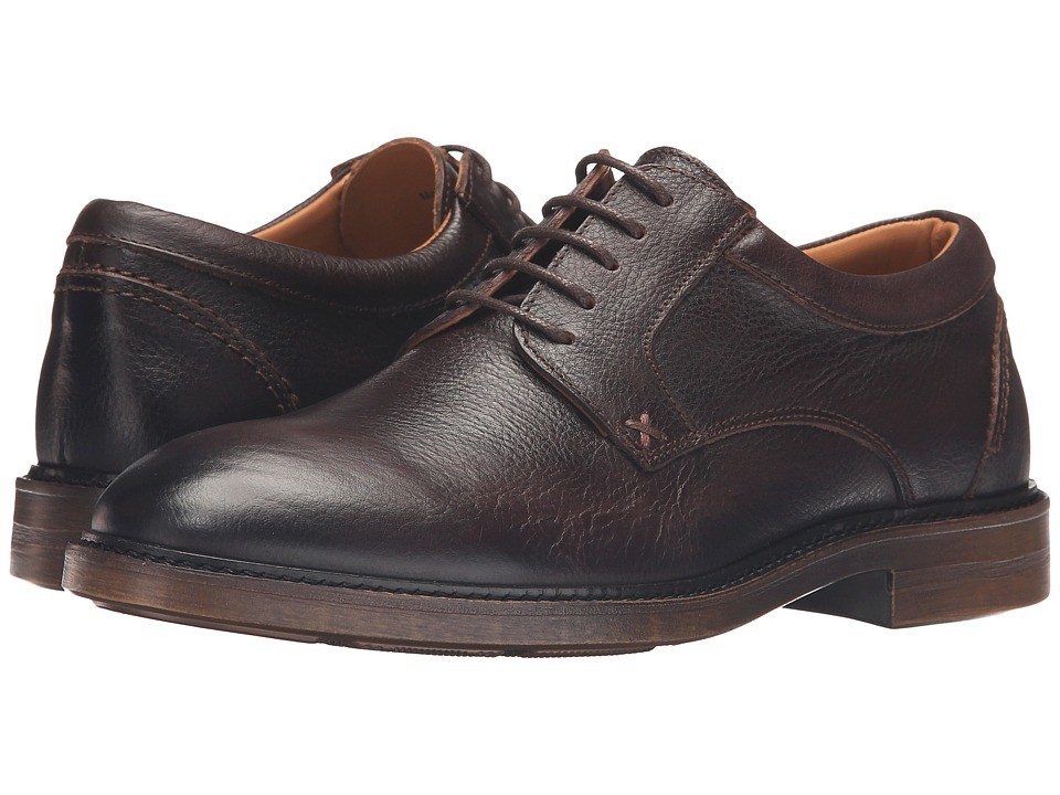 Sebago Bryant Lace-Up (Dark Brown Pebbled Leather) Men