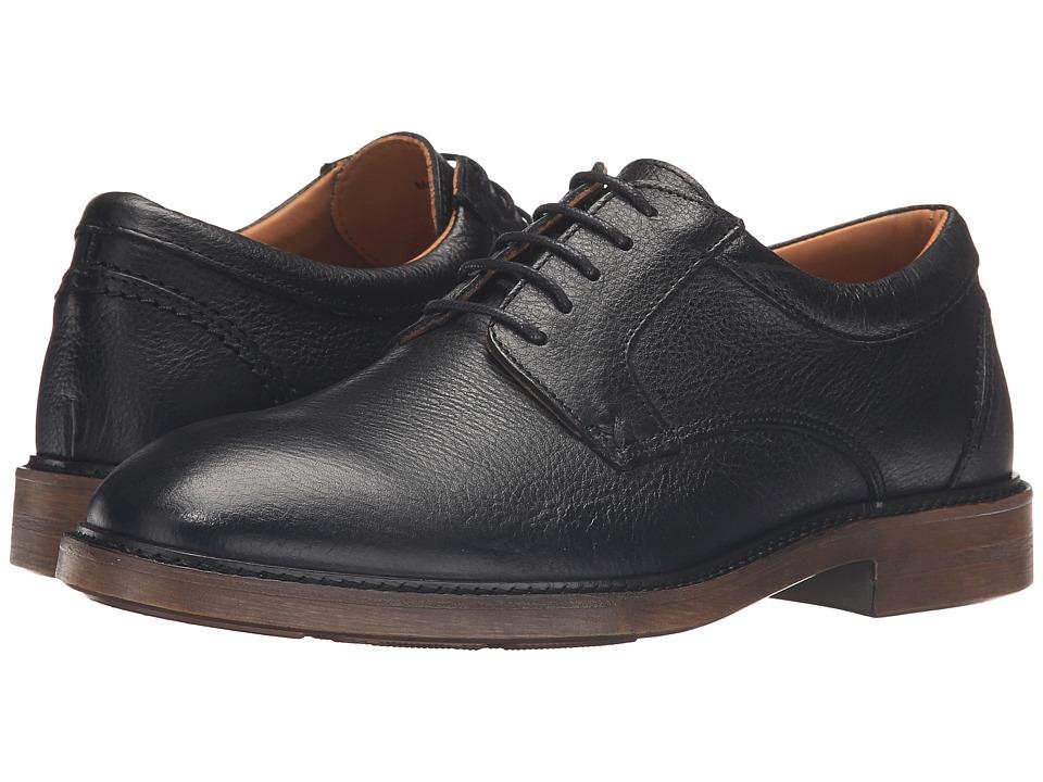 Sebago Bryant Lace-Up (Black Pebbled Leather) Men
