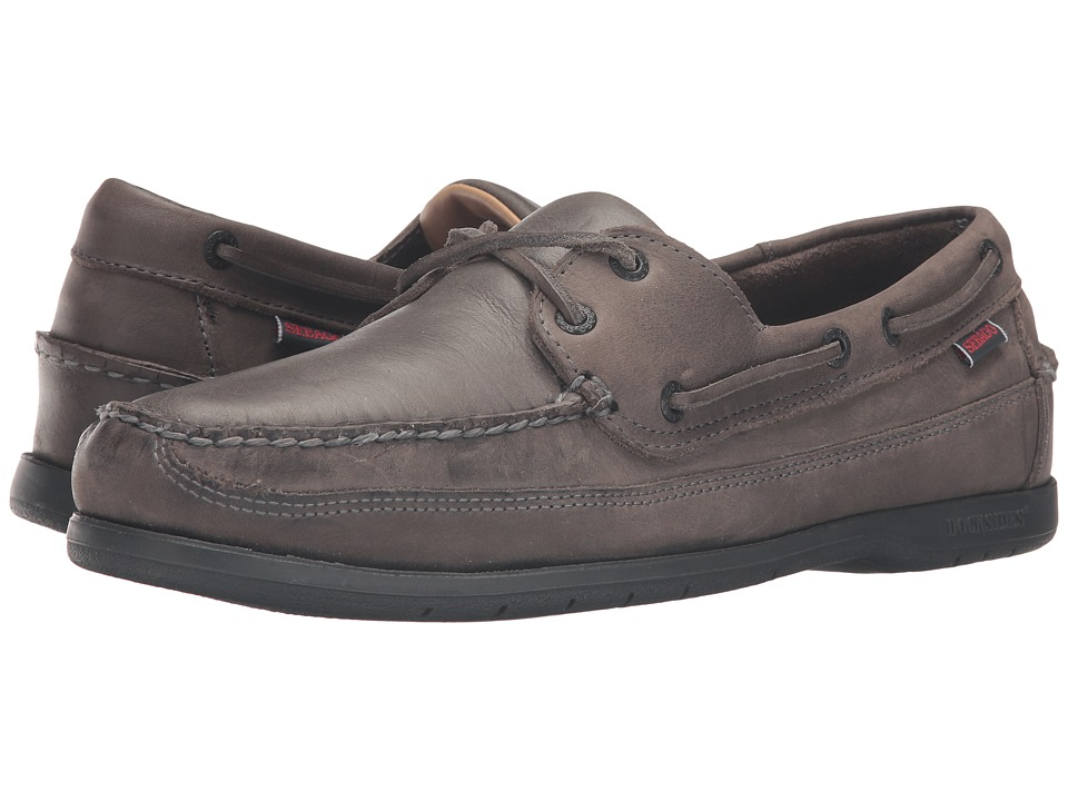Sebago Schooner (Dark Grey Tumbled Leather) Men