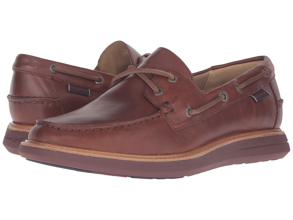 Sebago - Smyth Two Eye (Brown Leather 1) Men's Shoes