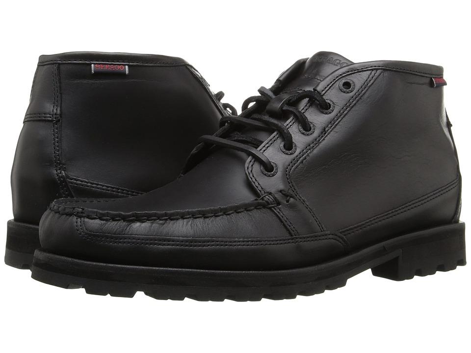 Sebago Vershire Chukka (Black Oiled Waxy Leather) Men