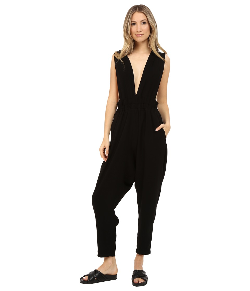 Limi Feu - Satin Crepe Jumpsuit (Black) Women's Jumpsuit & Rompers One Piece