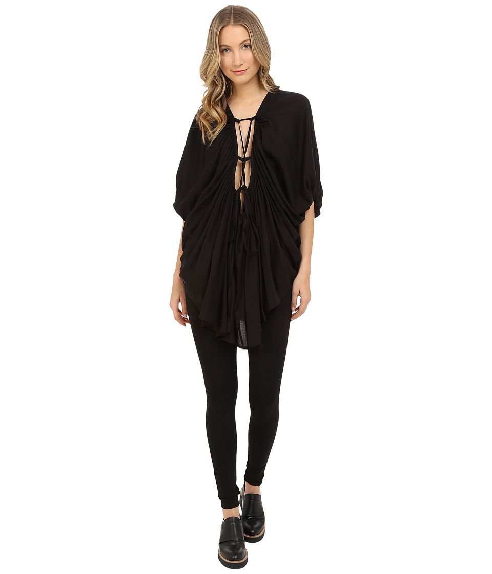 Limi Feu - Gathered Blouse (Black) Women's Blouse