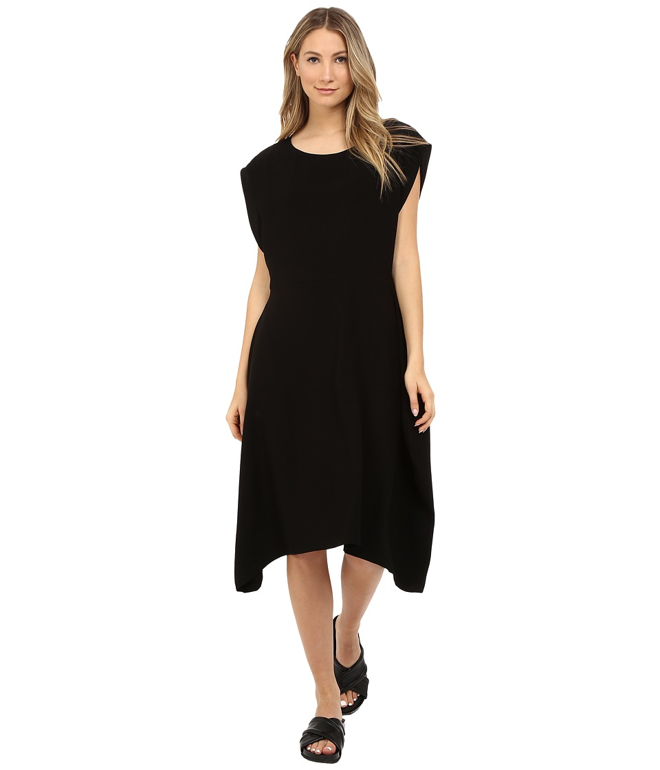 Limi Feu - Satin Crepe Sleeveless Dress (Black) Women's Dress