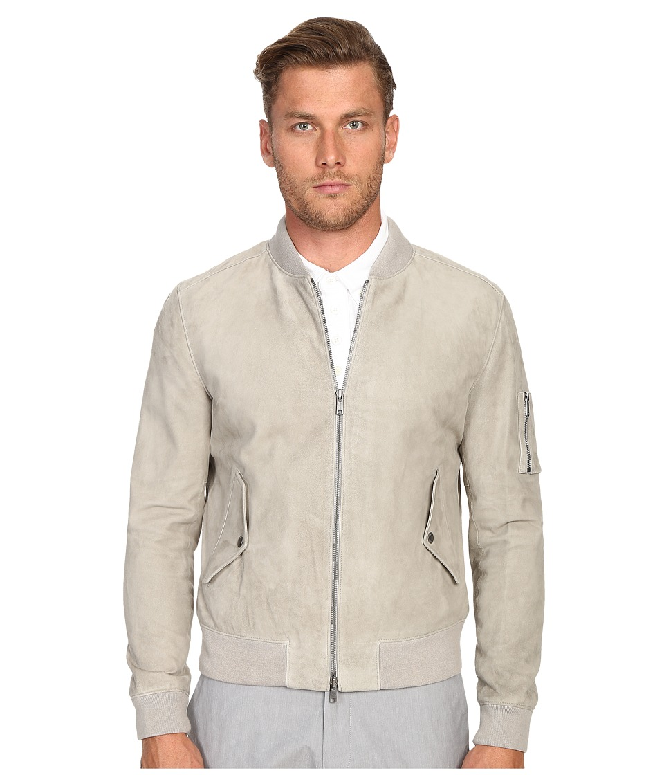 Todd Snyder - Suede Bomber (Light Grey) Men's Coat